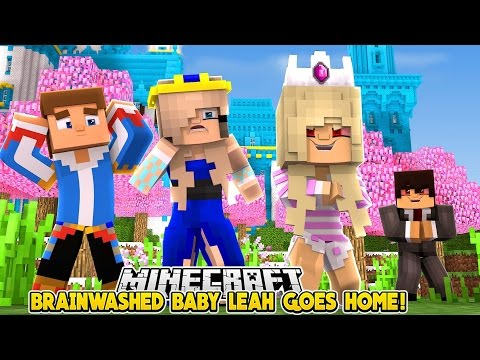 BABY LEAH COMES BACK  HOME TO KILL HER FAMILY!!!- Baby Leah Minecraft Adventures!