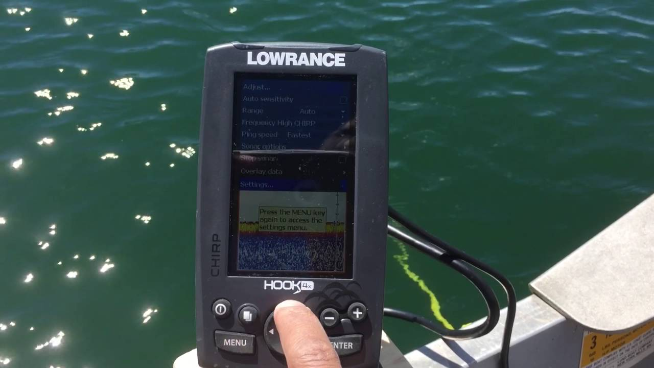 Lowrance hook 4x fish finder keeps beeping issue