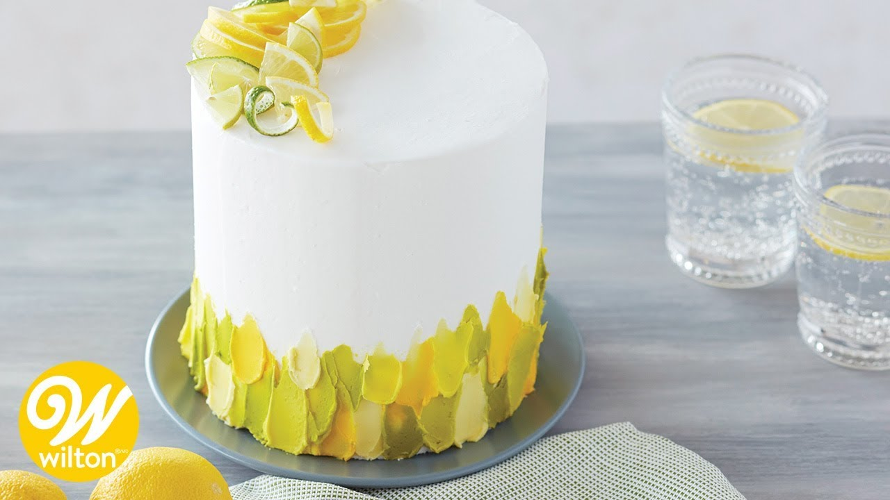 How to Spatula Paint Buttercream onto a Cake | Wilton