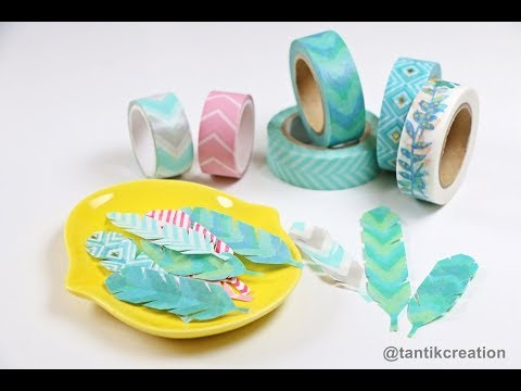 Easy DIY Washi Tape Feather.