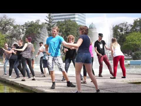 International West Coast Swing Flashmob 2016 Winnipeg Canada (Wild Purple Productions )