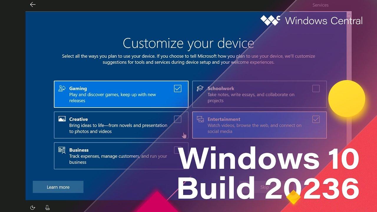 Windows 10 Build 20236 - Meet Now, 10X OOBE, Settings, UI Tweaks + MORE