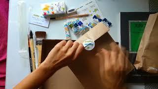 Юлия Cтепашкина - обзор коробочки LessonBox и превью к видео уроку рисования (Сентябрь 2017)