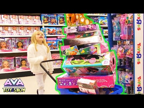 Toys R Us Christmas toy shopping spree