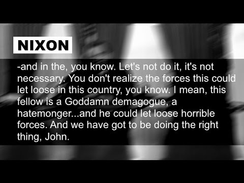 Richard Nixon Speaks to John Ehrlichman After Wallace Assassination May 15 1972 7:37-7:42 PM