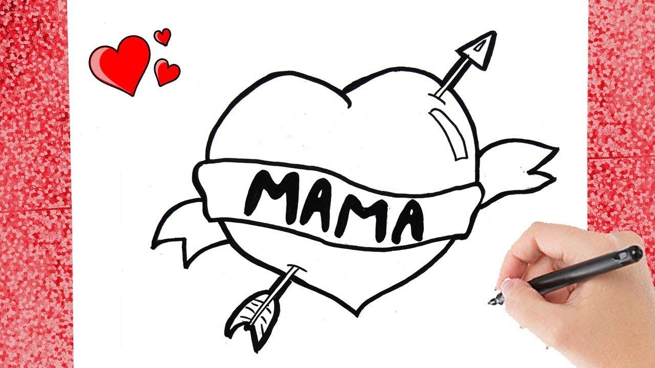 Hoe Teken Je Een Moederdag Hart Motherday Heart Drawing Youtube