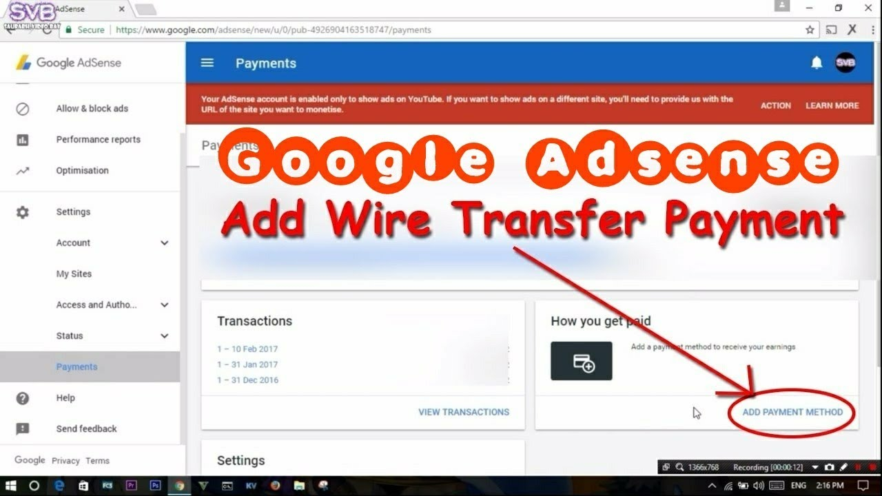 How To Transfer Google Adsense Money Bank Account Via Wire