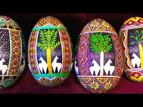 Learn How to Create 4 Four Seasons Eggs - Pysanky Pysanka Ukraine Ukrainian Ukrainians Egg Art