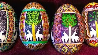 Learn How to Create 4 Four Seasons Eggs - Pysanky Pysanka Ukraine Ukrainian Ukrainians Egg Art