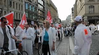 La manifestation de soutien au personnel de Merck Serono!