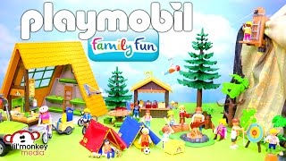 playmobil family fun summer camp zipline tents kayaks bikes and more