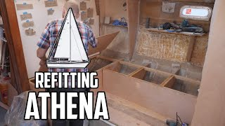 Sail Life - Building the new settee & glassing new knees - DIY sailboat refit