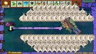 Plants vs Zombies Hack - Scaredy Shroom vs Gargantuar vs 999 Zombies