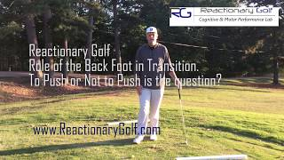 Role of the Back Foot - To Push or Not to Push