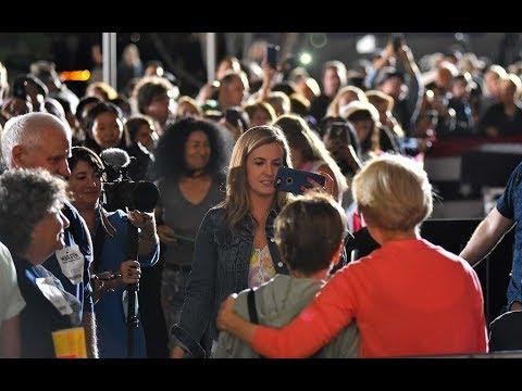 Sen. Elizabeth Warren and San Diego selfies timelapse