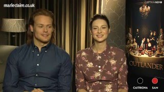 'Onscreen Mr and Mrs' with Outlander stars at Marie Claire [RUS SUB]