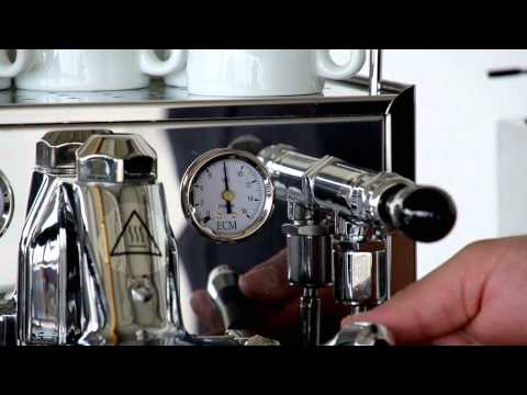 ECM - How to clean the brew group.