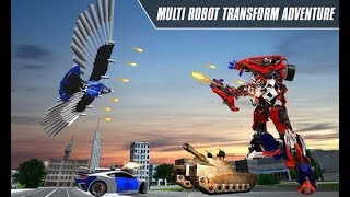 Multi Robot Transform: Jet, Dog, Eagle & Car War (By Kick Time Studios) Gameplay HD