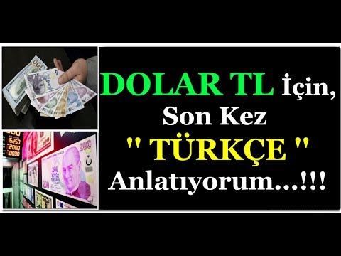 DOLAR TL İÇİN SON KEZ '' TÜRKÇE ''  UYARILARIM...!!!
