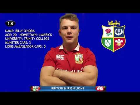 British and Irish Lions #pickofthepride ambassador application - Billy O'Hora