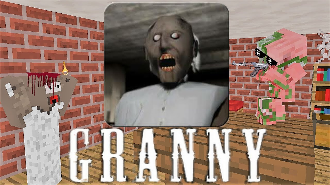 Monster School: GRANNY HORROR GAME CHALLENGE - Minecraft Animation
