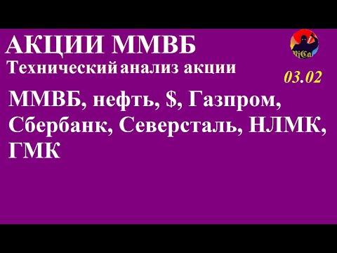 ММВБ, SIH0, EuH0, Газпром, Сбербанк, Северсталь, ММК, НЛМК, ГМК, ВТБ 03.02.20