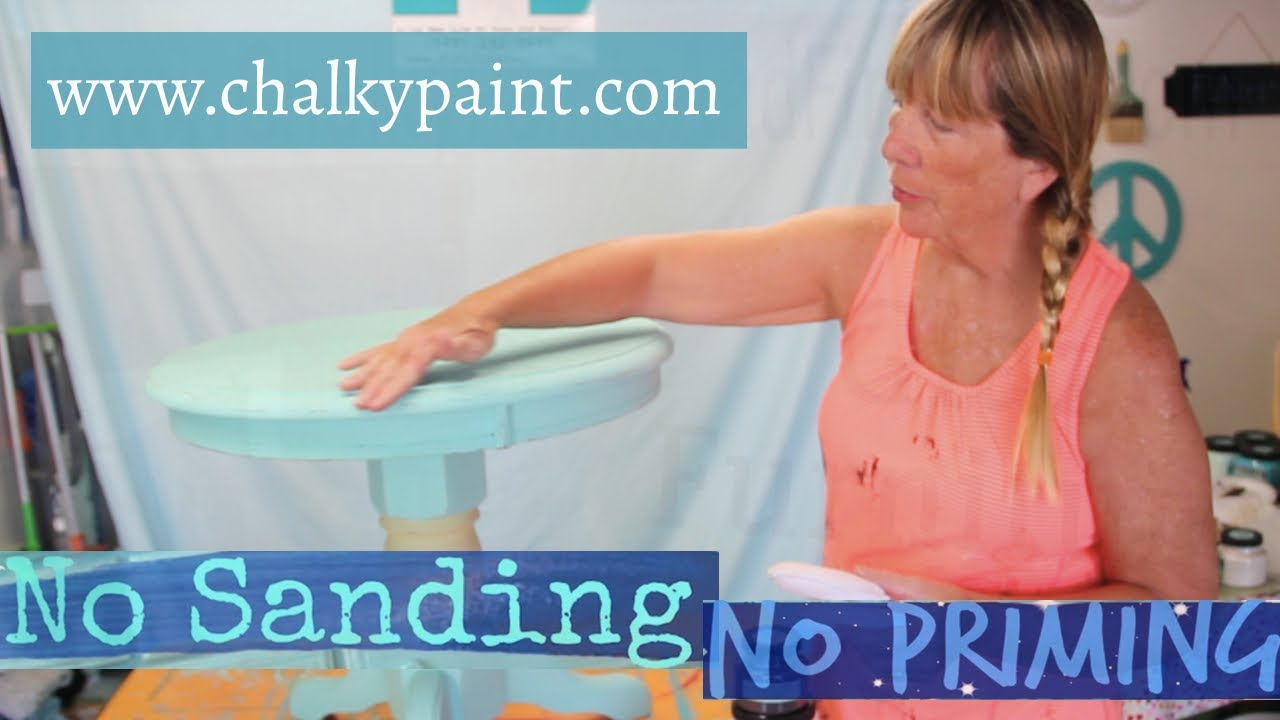 how to paint furniture without sanding or priming using chalky
