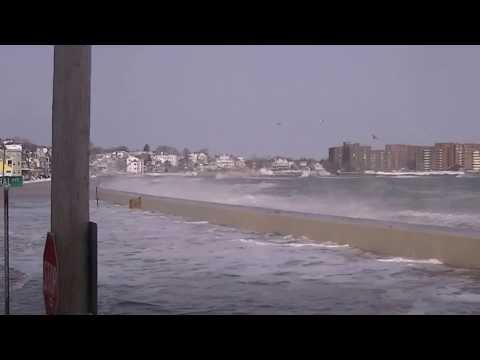 2014 January Storm - Winthrop Massachusetts - Wow !!!!