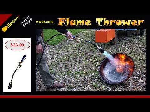 Harbor Freight Greenwood Propane Torch With Push Button Ignitor Youtube