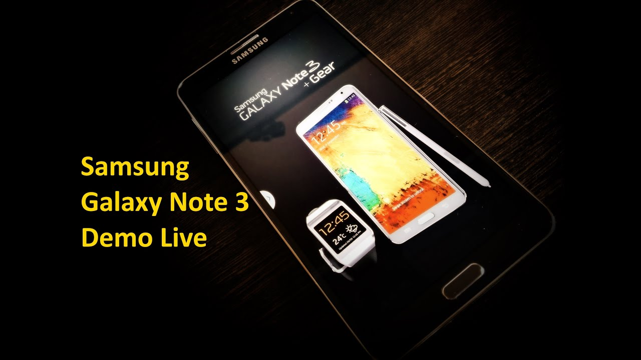 Unboxing Samsung Galaxy Note 4 Live Demo Unit - YouTube