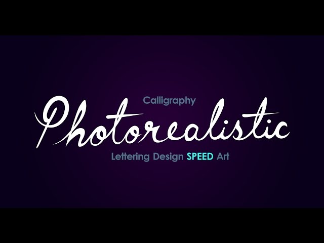 Lettering Design Speed Art | Illustrator & Photoshop | Photorealistic