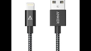 Anker 6Ft Nylon USB to Lightning Connector Cable review