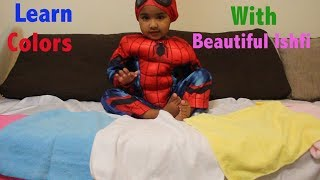 Funny Kids Learn Colors with Colourful Towel | Beautiful Ishfi