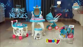 Gyerek pipere asztal Disney Frozen Smoby 2in1 kiss