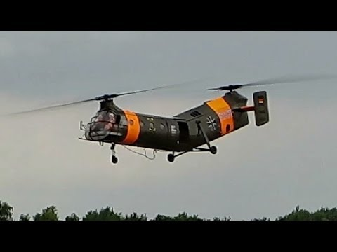 RC Piasecki H-21 , Big RC Scale Banana Helicopter , Bernd Fischer , Heli Masters Venlo 2014 *HD*