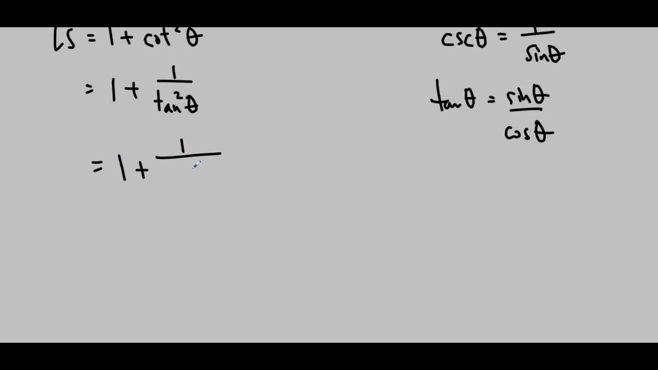 Ms Ma's MCR3U Lesson 5 5: Trigonometric Identities