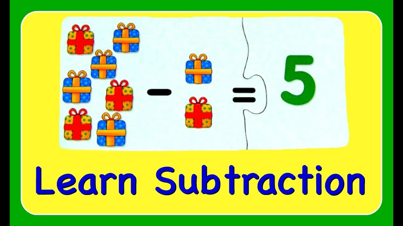 Subtraction Learn How To Subtract Amp Minus Numbers Fun