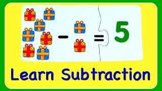 Subtraction Learn How To Subtract & Minus Numbers!  Fun Math YouTube Video For Kids! - 動画 24