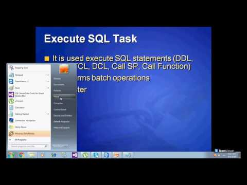 SSIS Part3 - Control Flow Task and Demos - Exe SQL Task n Bulk Ins Task
