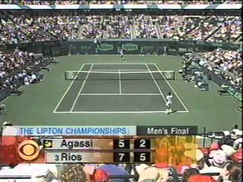 Marcelo Ríos vs. Andre Agassi [Final Lipton Championships 1998]