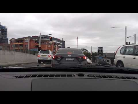 Sydney city driving Auburn NSW 25/4/17