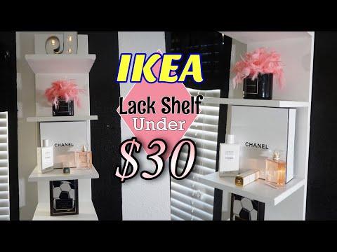 DIY $30 IKEA Lack Shelf Hack