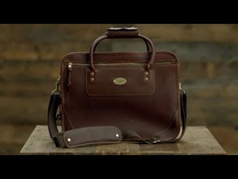 baed1f5af49bd ORVIS - Bullhide Leather Expandable Briefcase - YouTube
