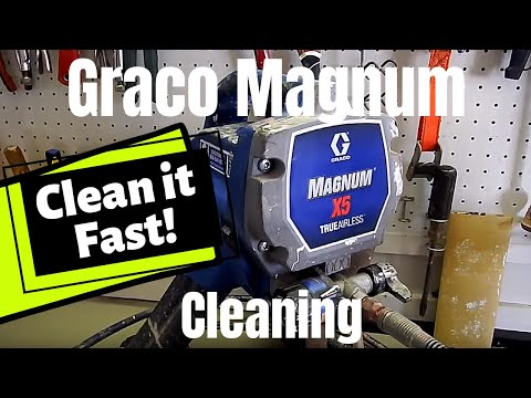 How to Clean a Paint Sprayer [Airless Paint Sprayer Cleaning Instructions] Graco Magnum X5 X7(2019)