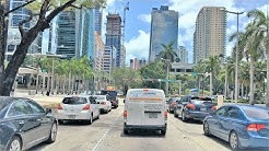 Driving Downtown - Miami Main Street 4K - USA