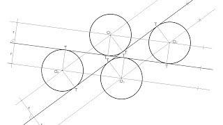 Circunferencias de radio dado tangentes a dos rectas que se cortan