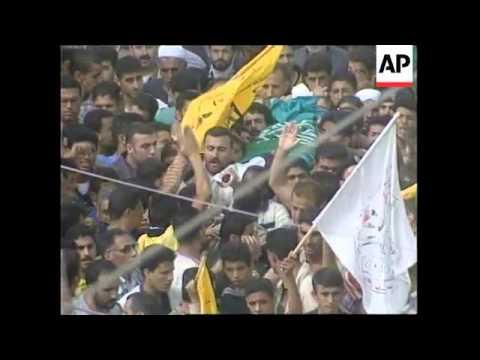 GAZA: FUNERAL OF 15 YEAR OLD SALAH NIJEM (2)