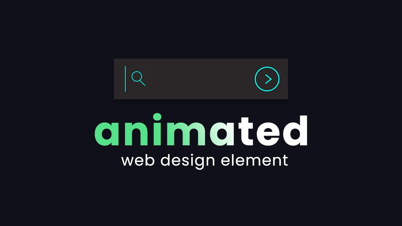 Animated Search Box Ui using HTML CSS - Creative CSS Animation Effect
