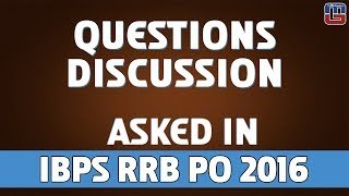 Questions Discussion | Maths | IBPS RRB PO 2016 2017 Video