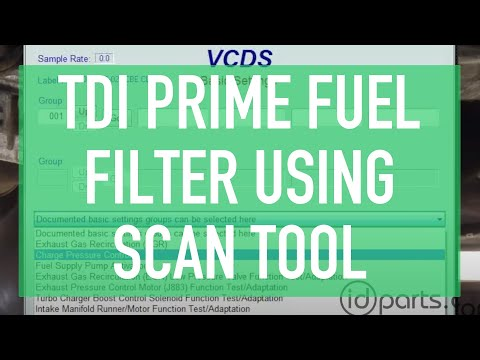Prime Fuel Filter using VCDS